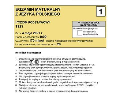 Matura 2021. Arkusze CKE z języka polskiego. Sprawdź, czy zdałeś