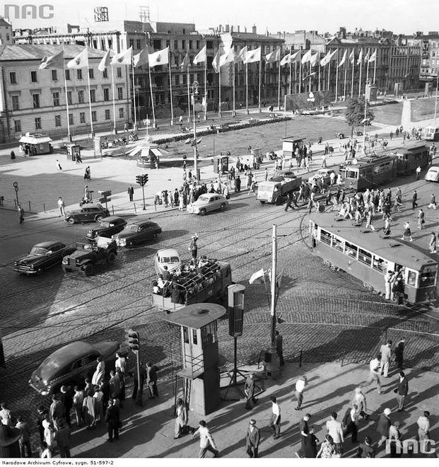 Okolice ronda de Gaulle'a dawniej [ZDJĘCIA]