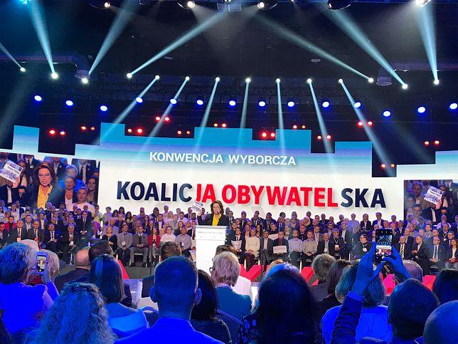 Małgorzata Kidawa-Błońska na konwencji KO.