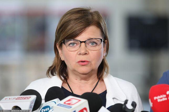 Izabela Leszczyna podczas debaty wyborczej TVN. Kim jest reprezentantka Koalicji Obywatelskiej?