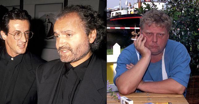 Od lewej: Sylvester Stallone i Gianni Versace, Theo van Gogh
