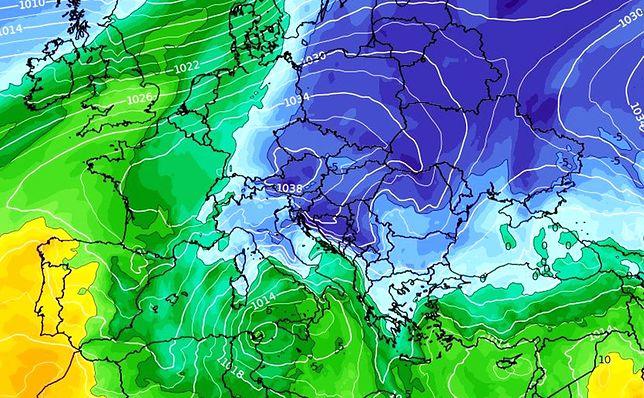 Pogoda. Uderzenie zimy. IMGW wydał ostrzeżenia (wxcharts.com)