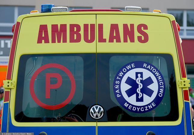 Michałowice. Zderzenie autobusu z autem dostawczym na DK7. 20 osób poszkodowanych