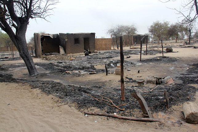 Baga - zniszczenia po dwóch dniach walkach służb bezpieczeństwa z Boko Haram, 2013 r.