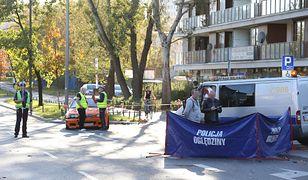 Warszawa. Wypadek na ul. Sokratesa na Bielanach, w którym zginął 33-letni mężczyzna