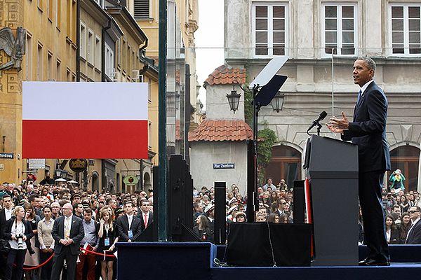 Komentatorzy: wizyta Obamy pomaga promować polską markę na świecie