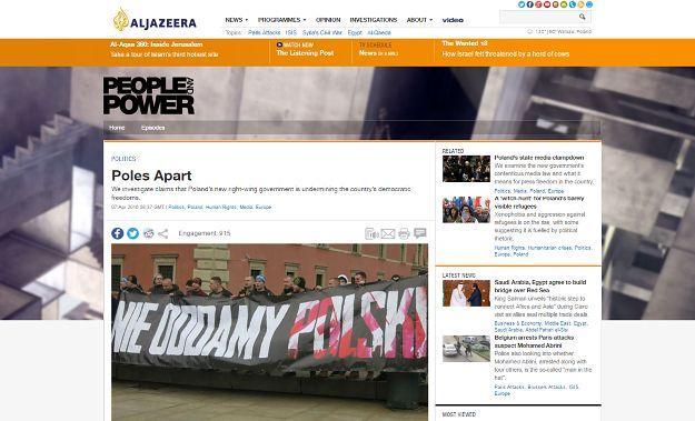 Arabska telewizja Al. Jazeera atakuje polski rząd