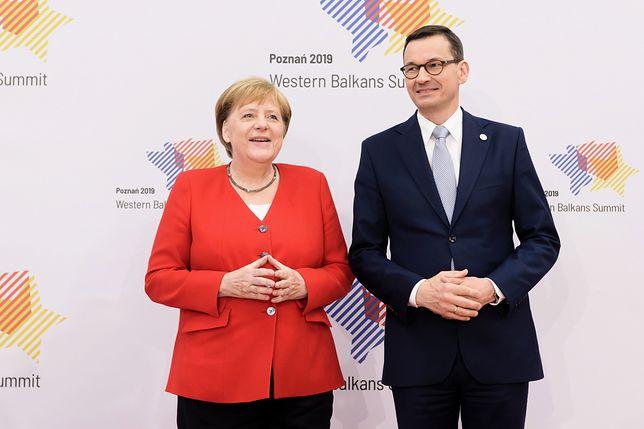 Premier Mateusz Morawiecki i kanclerz Angela Merkel.
