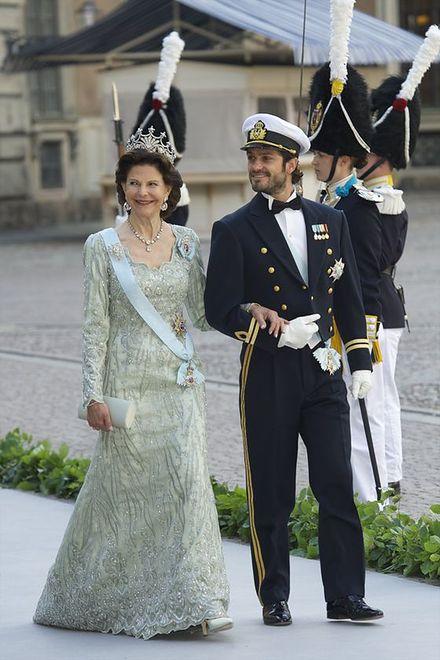 Królowa Szwecji, Sylwia z synem