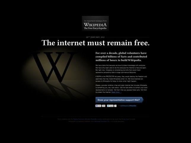 To już pewne - Wikipedia zostanie jutro wyłączona. Co dalej?