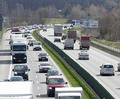 Wypadek na A4. 89-latek wjechał na autostradę pod prąd