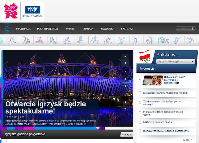 TVP wypuszcza aplikację olimpijską londyn2012.tvp.pl