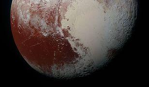 Pluton całkowicie zmieni barwę
