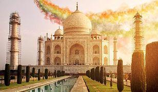 Monumentalne Taj Mahal w Indiach