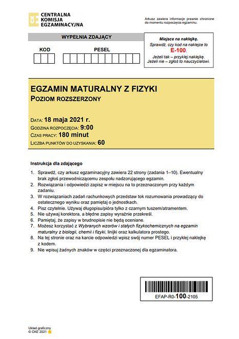 Propozycje rozwiązań zostały opracowane przez nauczycieli z Centrum Edukacyjnego Maturita www.maturita.pl