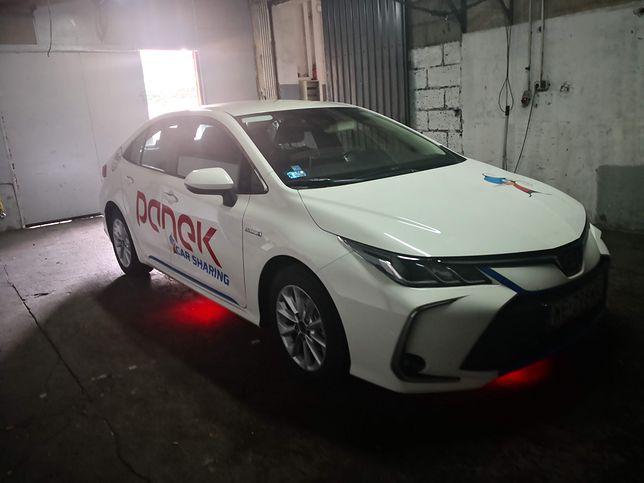 Toyota Corolla skradziona firmie Panek CarSharing i odnaleziona dzięki jej systemom