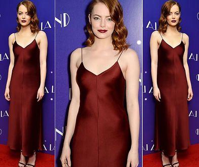 """Emma Stone na londyńskiej premierze musicalu """"La La Land"""""""