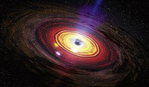 Grafika supermasywnej czarnej dziury