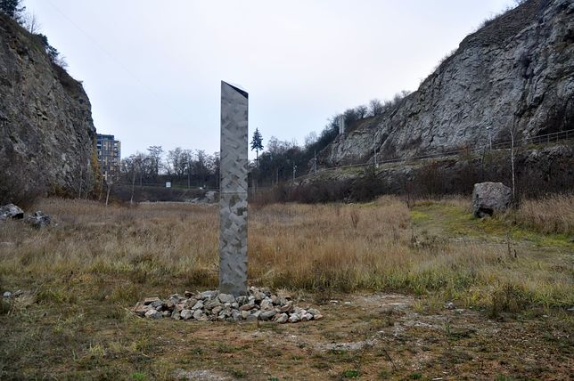 Monolit pojawił się na Kadzielni w Kielcach / Zdj. facebook.com/geopark.kielc