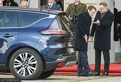 Emmanuel Macron w Polsce. Awaria limuzyny prezydenta Francji. Z pomocą przyszedł ambasador