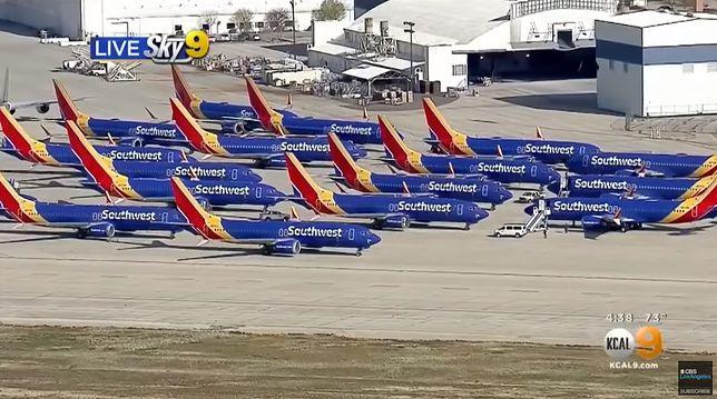 """Boeingi 737 MAX uziemione. Stoją na lotnisku zwanym """"cmentarzyskiem"""""""