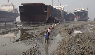 Największe na świecie cmentarzysko statków. Tutaj po latach służby kończą swój żywot