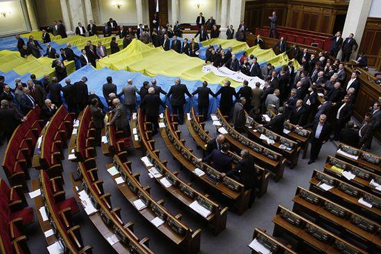 Pięści i krew - jatka w ukraińskim parlamencie - zdjęcia