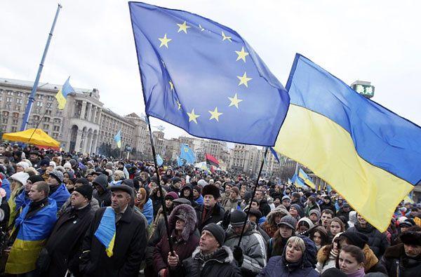 Protest na kijowskim Majdanie