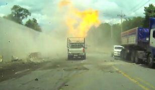Wypadek ciężarówki