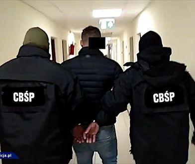 Podczas akcji funkcjonariusze CBŚP zatrzymali 5 mężczyzn