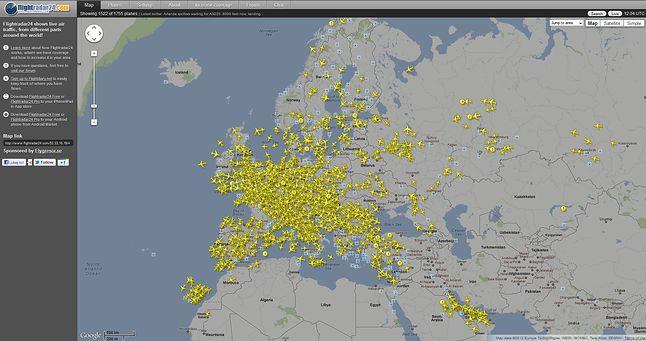 Tak na co dzień wygląda Europa nad nami ;)