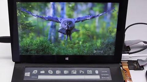 Klawiatura Microsoftu z ekranem e-ink lekarstwem na małe ekrany tabletów