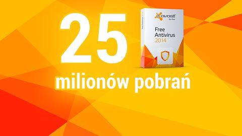 25 milionów pobrań avast! Free Antivirus i konkurs