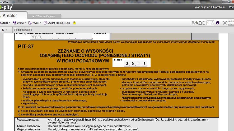 Wstępnie wypełniony PIT dostępny w e-pity.pl #prasówka