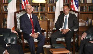 Mike Pence i Leo Varadkar spotkali się 3 września w Dublinie.