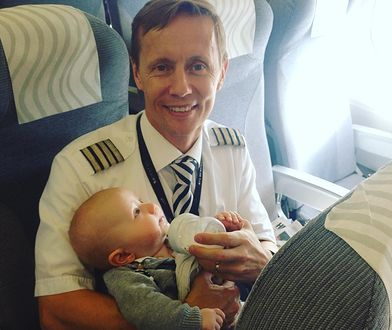 Pilot został bohaterem. Jego prosty gest ujął miliony