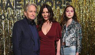 Michael Douglas i Catherine Zeta-Jones z nastoletnią córką Carys