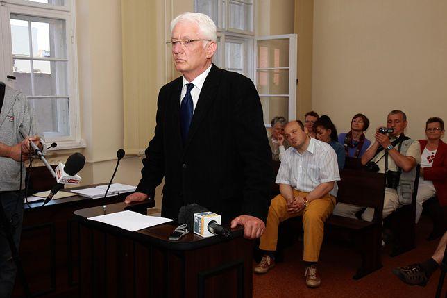 Krzysztof Wyszkowski podczas proces wytoczonego przez Lecha Wałęsę. Rok 2012