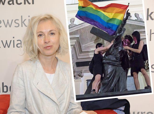 Manuela Gretkowska skomentowała ostatnie zajścia w Warszawie