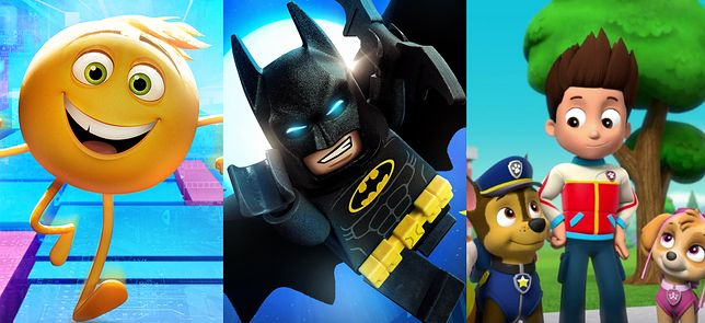 """Emotki. Film"", ""Lego Batman Film"", ""Psi Patrol"""