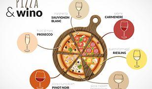Wino kocha pizzę, pizza kocha wino