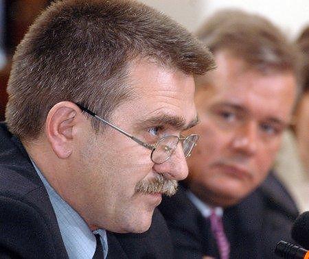 Leszek Sikorski (po lewej) i Aleksander Nauman (fot. PAP/Andrzej Rybczyński)