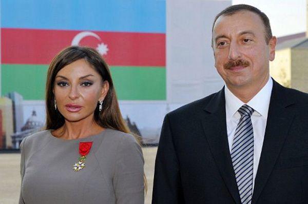 Ilham Alijew z małżonką