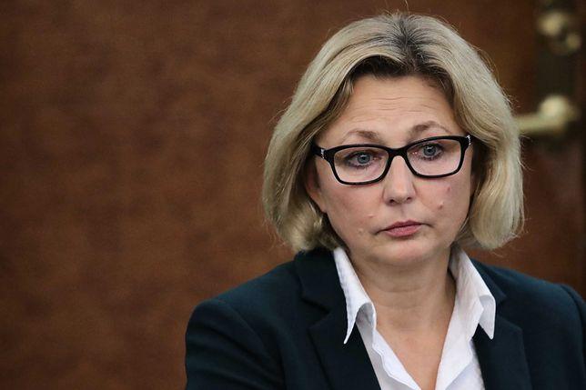 Małgorzata Motylow podczas posiedzenia komisji