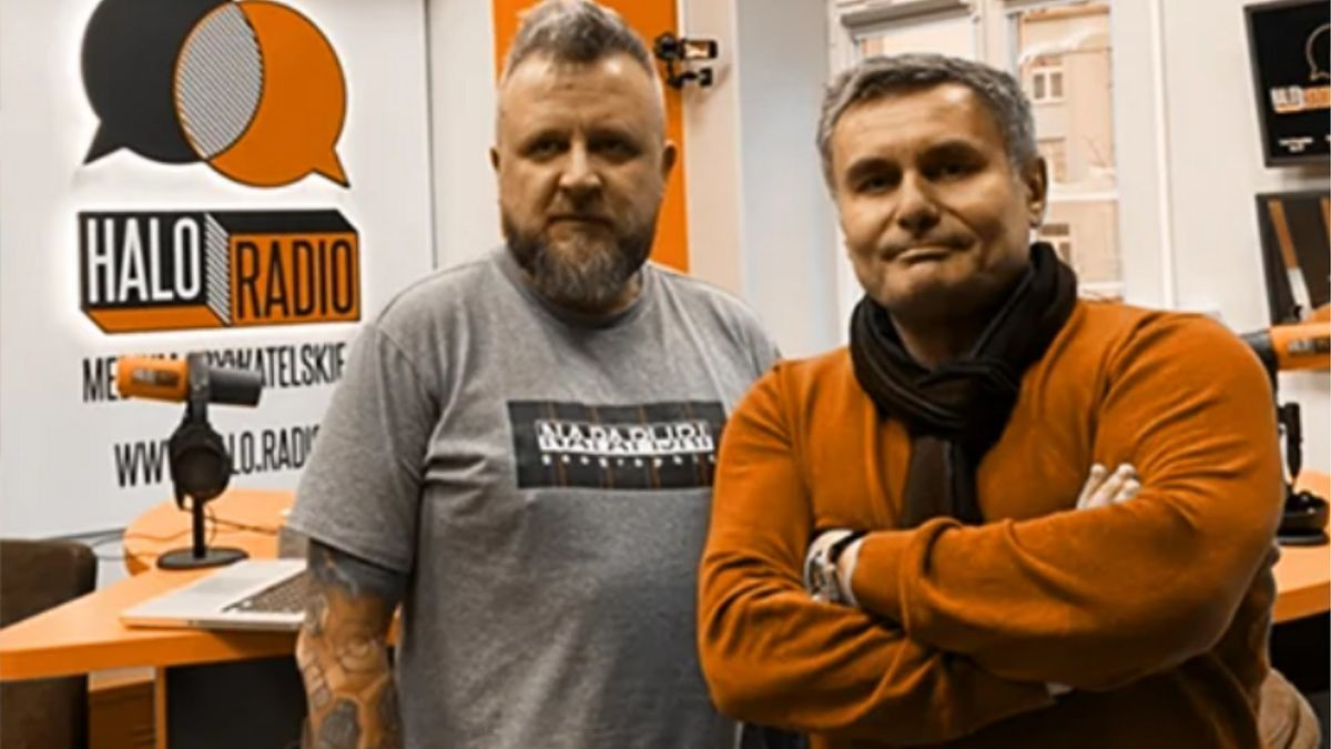 Kuba Wątły i Marek Czyż w studiu Halo. Radio