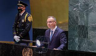Wpadka Andrzeja Dudy na sesji ONZ. Pomylił prezydentów