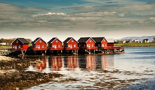Widok na domy w Trondheim