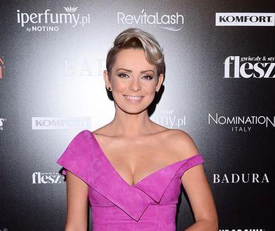 Prezenterka na imprezie Flesz Fashion Night