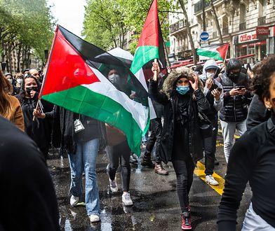 Setki ludzi na marszach poparcia dla Palestyńczyków w Paryżu