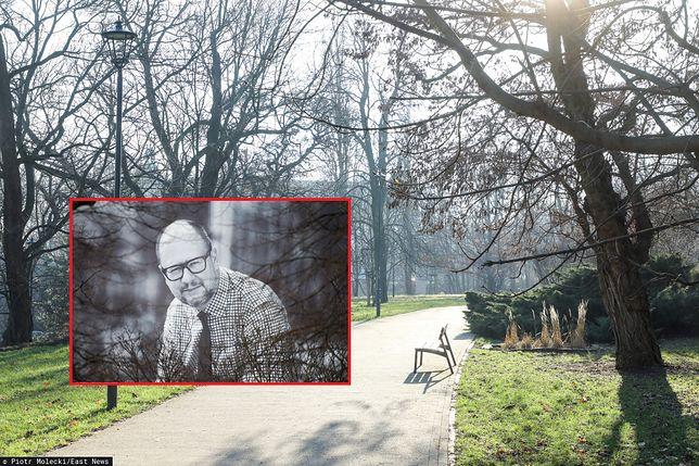 Warszawa. Aleja w parku im. Tadeusz Mazowieckiego, biegnąca od ulicy Jazdów do ulicy Górnośląskiej, będzie nosić nazwę alei Pawła Adamowicza, styczeń 2020 r.